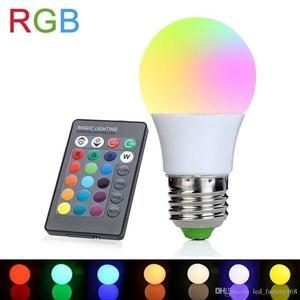 3 W RGB Led Izzó, távirányítóval kép