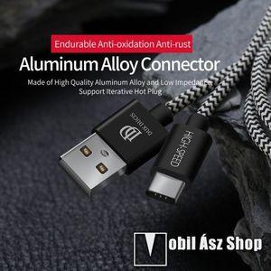 DUX DUCIS adatátviteli kábel / USB töltő - USB 3.1 Type C, 25cm, 2, 1A töltőáram átvitelre képes! - FEKETE kép