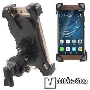 X-TREME telefon tartó kerékpár / bicikli - FEKETE / SZÜRKE - UNIVERZÁLIS - elforgatható - 180-92 mm-ig nyíló bölcsővel kép