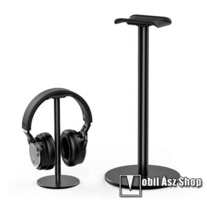 UNIVERZÁLIS Headstand fejhallgató állvány / asztali tartó - FEKETE kép