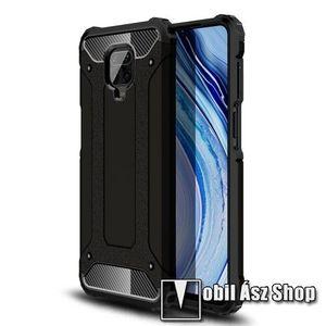 OTT! MAX DEFENDER műanyag védő tok / hátlap - FEKETE - szilikon belső, ERŐS VÉDELEM! - Xiaomi Redmi Note 9S / Redmi Note 9 Pro / Redmi Note 9 Pro Max / Poco M2 Pro kép