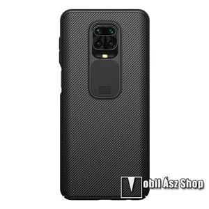 NILLKIN CamShield műanyag védőtok, szilikon betétes, kamera védő fedéllel, ERŐS VÉDELEM - FEKETE - Xiaomi Redmi Note 9S / Redmi Note 9 Pro / Redmi Note 9 Pro Max / Poco M2 Pro - GYÁRI kép