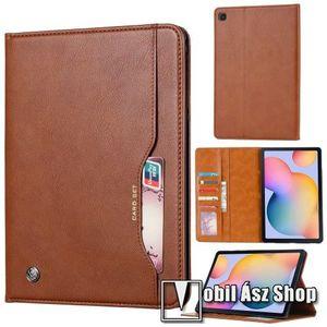 Notesz tok / mappa tok - BARNA - asztali tartó funkciós, oldalra nyíló aktív flip, bankkártya tartó zsebek külső/belső, szilikon belső, mágneses záródás - SAMSUNG SM-P610 Galaxy Tab S6 Lite (Wi-Fi) / SAMSUNG SM-P615 Galaxy Tab S6 Lite (LTE) kép