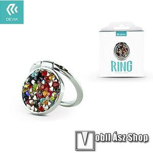 DEVIA fém ujjtámasz, gyűrű tartó - Biztos fogás készülékéhez, strasszkővel díszített - SZÍNES kép