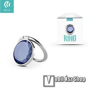 DEVIA fém ujjtámasz, gyűrű tartó - Biztos fogás készülékéhez, strasszkővel díszített - EZÜST / KÉK kép