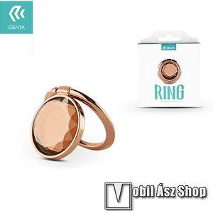 DEVIA fém ujjtámasz, gyűrű tartó - Biztos fogás készülékéhez, strasszkővel díszített - ROSE GOLD kép
