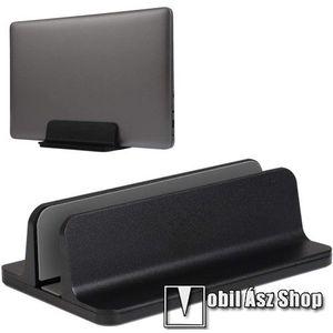 UNIVERZÁLIS asztali telefon, tablet, laptop tartó, alumínium állvány - 14-73mm-ig állítható bölcső - FEKETE kép