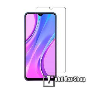 Előlap védő karcálló edzett üveg - 0, 3 mm vékony, 9H, Arc Edge, A képernyő sík részét védi - Xiaomi Redmi 9 kép