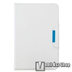 """UNIVERZÁLIS notesz / mappa tablet PC tok - FEHÉR - álló, bőr, rejtett mágneses záródás, bankkártyatartó zsebek, asztali tartó funkciós, ceruzatartó, 10-12""""-os készülékekhez ajánlott kép"""