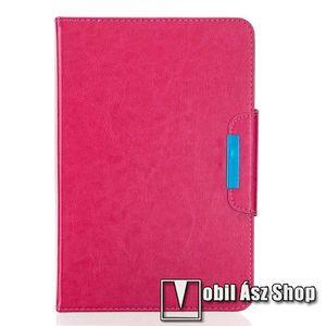 """UNIVERZÁLIS notesz / mappa tablet PC tok - MAGENTA - álló, bőr, rejtett mágneses záródás, bankkártyatartó zsebek, asztali tartó funkciós, ceruzatartó, 10-12""""-os készülékekhez ajánlott kép"""