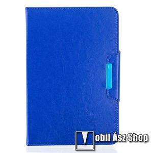 """UNIVERZÁLIS notesz / mappa tablet PC tok - TENGERÉSZKÉK - álló, bőr, rejtett mágneses záródás, bankkártyatartó zsebek, asztali tartó funkciós, ceruzatartó, 10-12""""-os készülékekhez ajánlott kép"""