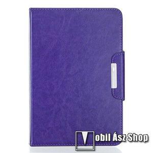 """UNIVERZÁLIS notesz / mappa tablet PC tok - LILA - álló, bőr, rejtett mágneses záródás, bankkártyatartó zsebek, asztali tartó funkciós, ceruzatartó, 10-12""""-os készülékekhez ajánlott kép"""