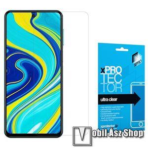Xpro képernyővédő fólia - Clear - 1db, törlőkendővel, A képernyő sík részét védi! - Xiaomi Redmi Note 9S / Redmi Note 9 Pro / Redmi Note 9 Pro Max / Poco M2 Pro - GYÁRI kép