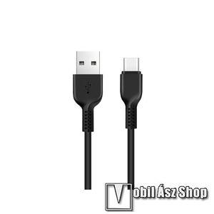 HOCO X13 adatátviteli kábel / USB töltő - USB 3.1 Type C, 1m, 2A - FEKETE - GYÁRI kép