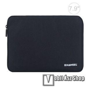 """HAWEEL Tablet / Laptop UNIVERZÁLIS tok / táska - FEKETE - Szövet, bársony belső, 2 különálló zsebbel, ütődésálló, vízálló - ERŐS VÉDELEM! - 7, 9""""-os készülékekig használható, 210 x 145 x 20 mm kép"""