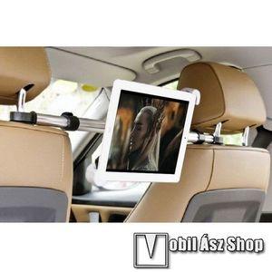 UNIVERZÁLIS autós tablet PC tartó - fejtámla rúdra rögzíthető, 185-300mm-ig állítható bölcsővel, 52-73cm-ig állítható fejtámlák közti rögzítő sínnel kép