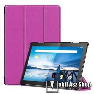 Notesz / mappa tok - LILA - oldalra nyíló flip cover, TRIFOLD asztali tartó funkciós, mágneses záródás, erősített sarkok, műanyag belső - Lenovo Tab M10 (TB-X605F / TB-X505F) kép