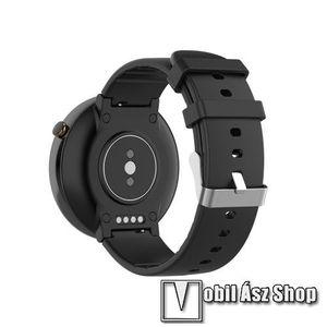Okosóra pót szíj - szilikon, 15mm széles - Xiaomi Amazfit Smartwatch 2 / Xiaomi Amazfit Verge 2 - FEKETE kép