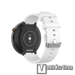 Okosóra pót szíj - szilikon, 15mm széles - Xiaomi Amazfit Smartwatch 2 / Xiaomi Amazfit Verge 2 - FEHÉR kép