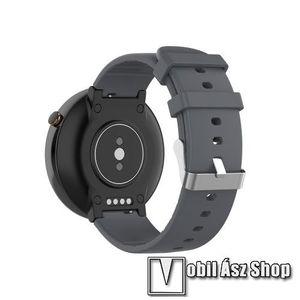 Okosóra pót szíj - szilikon, 15mm széles - Xiaomi Amazfit Smartwatch 2 / Xiaomi Amazfit Verge 2 - SZÜRKE kép