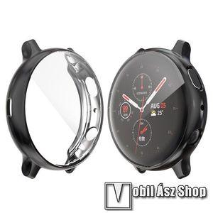 Okosóra szilikon védő tok / keret - Szilikon előlapvédő is - SAMSUNG Galaxy Watch Active2 40mm - FEKETE kép