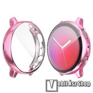 Okosóra szilikon védő tok / keret - Szilikon előlapvédő is - SAMSUNG Galaxy Watch Active2 40mm - RÓZSASZÍN kép
