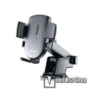"""JOYROOM univerzális autós / gépkocsi tartó - tapadókorongos, szélvédőre vagy műszerfalra rögzíthető, 117 x 155 x 109mm, 4-6.7""""-os készülékekhez - FEKETE - JR-OK3 - GYÁRI kép"""