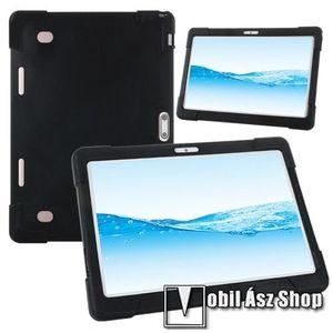 """UNIVERZÁLIS tablet PC szilikon védő tok - FEKETE - erősített sarkok, 10""""-os készülékekhez ajánlott kép"""