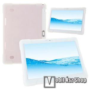 """UNIVERZÁLIS tablet PC szilikon védő tok - FEHÉR - erősített sarkok, 10""""-os készülékekhez ajánlott kép"""