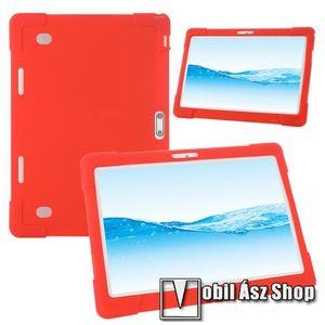 """UNIVERZÁLIS tablet PC szilikon védő tok - PIROS - erősített sarkok, 10""""-os készülékekhez ajánlott kép"""
