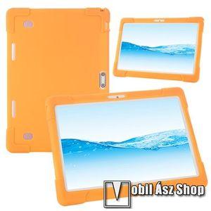 """UNIVERZÁLIS tablet PC szilikon védő tok - NARANCSSÁRGA - erősített sarkok, 10""""-os készülékekhez ajánlott kép"""
