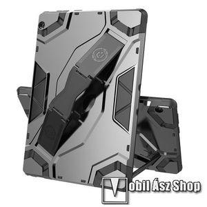 OTT! ARMOR TAB SHELL műanyag védő tok / hátlap - SZÜRKE - szilikon betétes, asztali tartó funkciós, csukópánt, ERŐS VÉDELEM! - Lenovo Tab M10 (TB-X605F / TB-X505F) kép