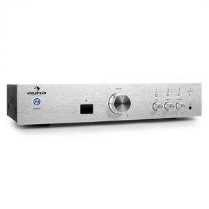 Auna AV2-CD508BT hi-fi erősítő, ezüst, AUX, bluetooth kép