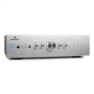 Auna CD708 stereo erősítő, AUX phono, ezüst, 600 W kép