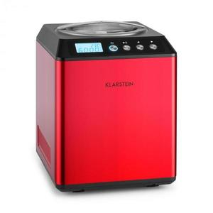 Klarstein Vanilla Sky fagylaltkészítő gép, kompresszor, rozsdamentes acél, 2l, 180 W, piros kép