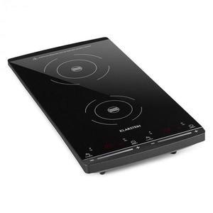 Klarstein VariCook Slim indukciós főzőlap, 2 főzőlap, 2900W, 60-240 °C, fekete kép