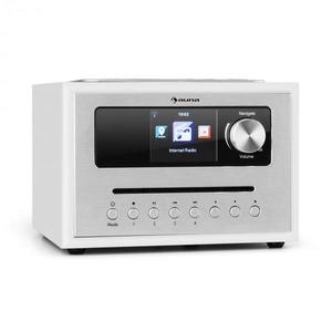 Auna Silver Star CD Cube, rádió, bluetooth, HCC kijelző, fehér kép