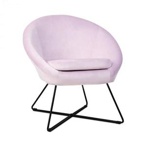Besoa Emily, kárpitozott szék, hab belső rész, poliészter felület, bársony, acél, rózsaszín kép