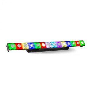 Beamz LCB14 LED, fénysáv, 14x 3W fehér és 56x SMD RGB LED, fekete kép