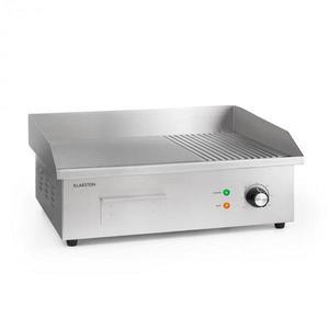 Klarstein Grillmeile 3000G, elektromos grill, 3000 W, grill lap, 54, 5 x 35 cm, sima/bordás kép