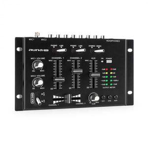 Auna Pro TMX-2211, MKII, DJ-Mixer, 3/2 csatorna, crossfader, talkover, rack-ba szerelés, fekete kép