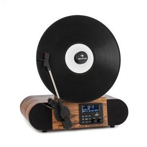 Auna Verticalo SE DAB, retró lemezlejátszó, DAB+, FM tuner, USB, BT, AUX, fa kép