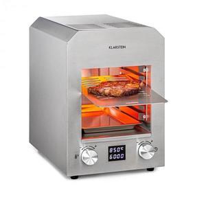 Klarstein Hannibal, magashőmérsékletű grill, benti, 2200 W, 850 °C, nemesacél, ezüstszínű kép