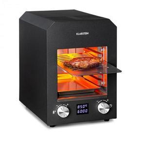 Klarstein Hannibal, magashőmérsékletű grill, benti, 2200 W, 850 °C, nemesacél, fekete kép
