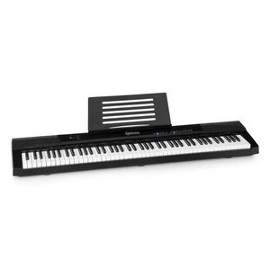 SCHUBERT Preludio, digitális zongora, 88 ütésérzékeny billentyű, sustain pedál, fekete kép