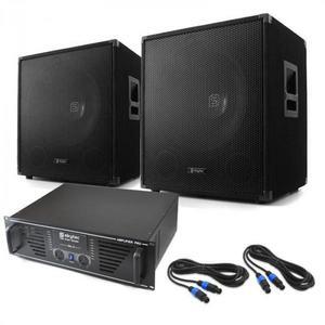 """Skytec DJ PA szett """"Lewis 1600 Bass Hurricane"""", 45 cm-es, 1600 W kép"""