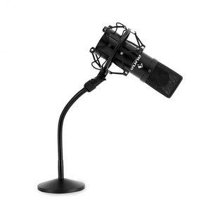 Auna Készletkondenzátor mikrofon, fekete ésasztali mikrofonállvány kép