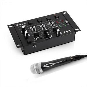 Electronic-Star Skytec Mini DJ szett, 1 x 3/2-csatornás keverőpult, 1 x kézi mikrofon kép