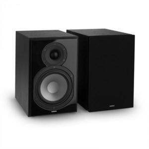 Numan Reference 802 2-sávos polc hangfal pár, burkolattal, fekete kép