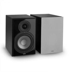 Numan Reference 802 2-sávos polc hangfal pár, ezüst burkolattal, fekete kép